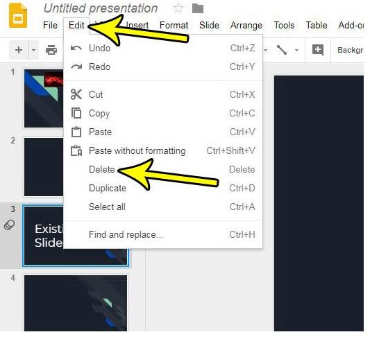 how to Delete a Slide on Google Slides