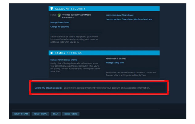 how to delete a steam group