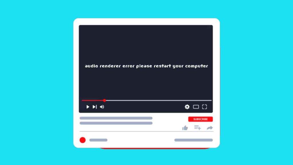 audio renderer error please restart your computer