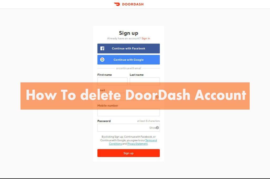 doordash account