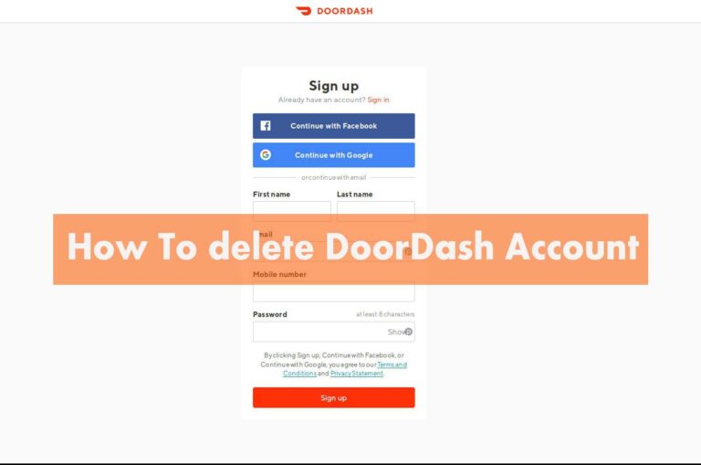 doordash account