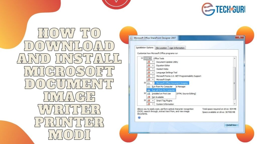 How to download and install Microsoft Document Image Writer Printer