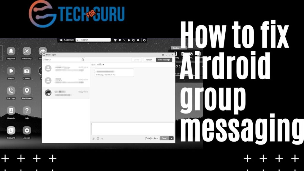 How to fix Airdroid group messaging