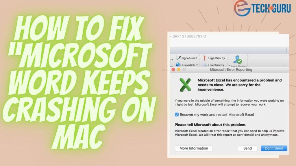"How to fix ""Microsoft Word keeps crashing on Mac"