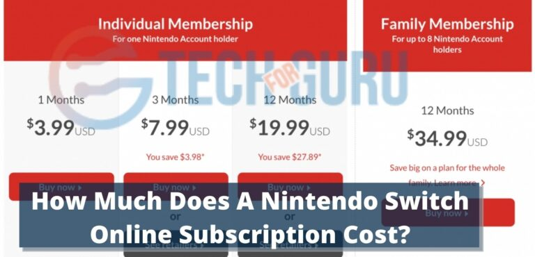 How Much Does A Nintendo Switch Online Subscription Cost?