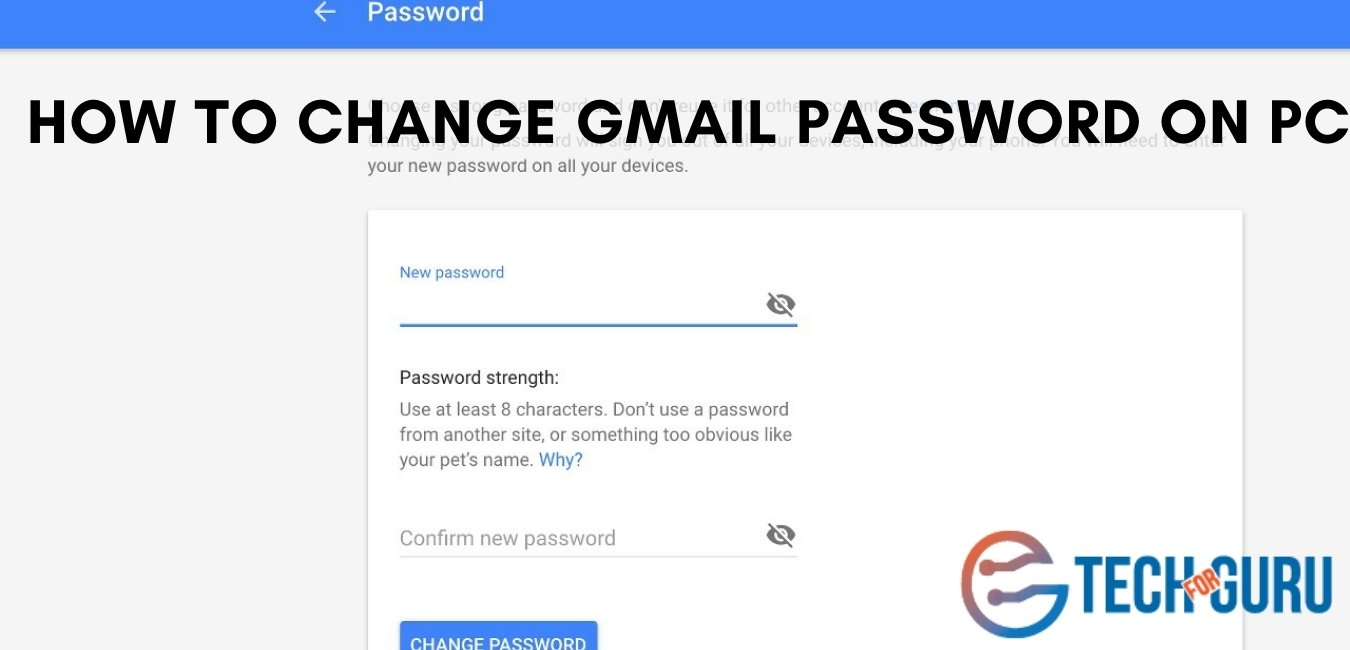 How To Change Gmail Password On Pc
