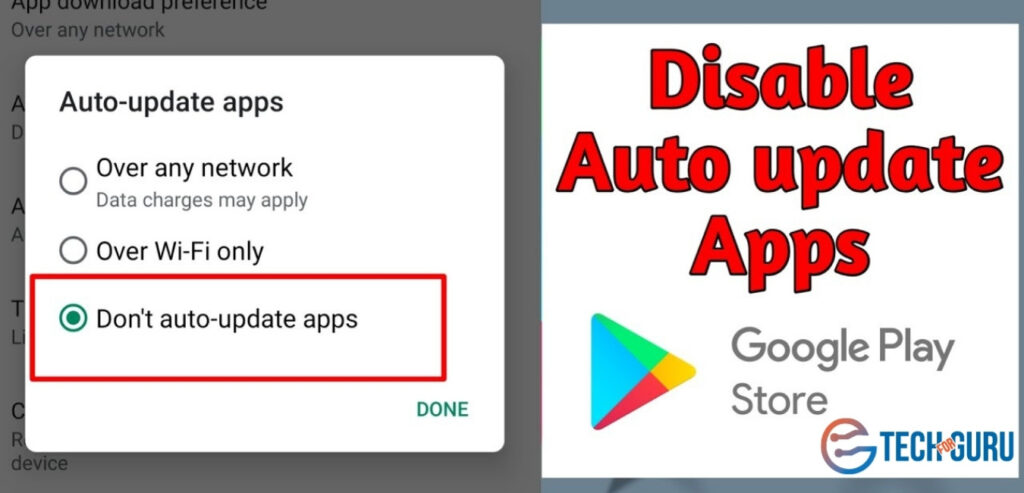 How To Disable Automatic Updates On Google Play?