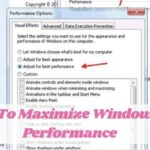 How To Maximize Windows 10 Performance