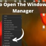 How To Open The Windows Task Manager