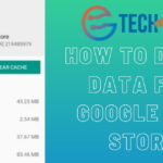 How to delete data from Google Play Store?
