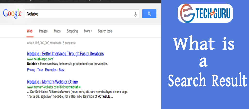 What is a Search Result