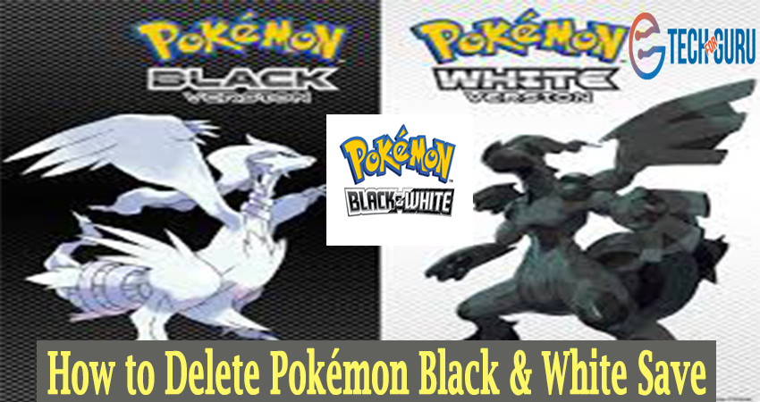 Delete Pokémon Black & White Save