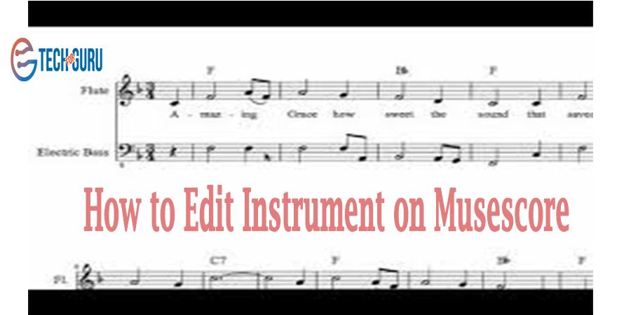 Edit Instrument on Musescore