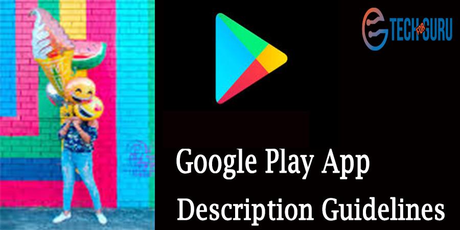 App Description Guidelines
