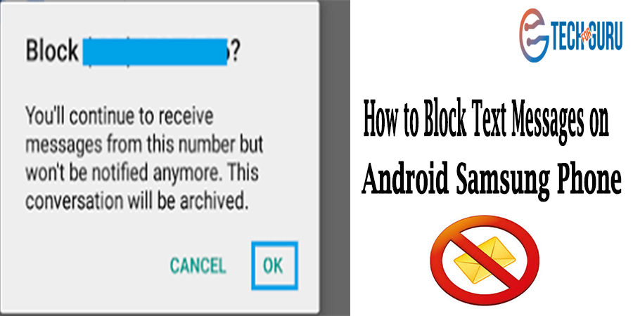Block Text Messages on Android Samsung Phone