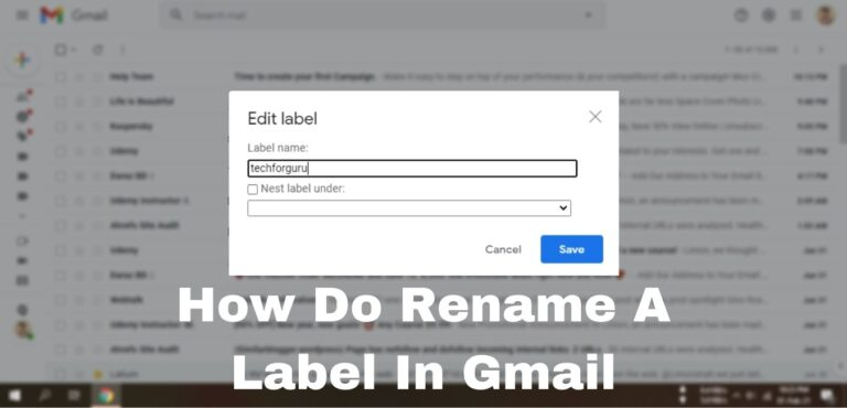How Do Rename A Label In Gmail