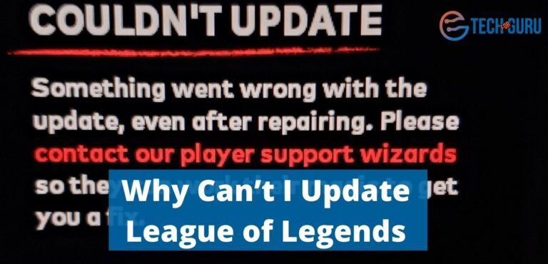 Why Can't I Update League of Legends